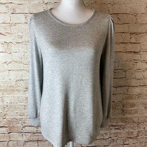 NWOT LOFT Gathered Sleeve Cutout Sweater
